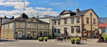 Urzędu Miasta kwadrat w PiteÃ¥ Zdjęcie Royalty Free