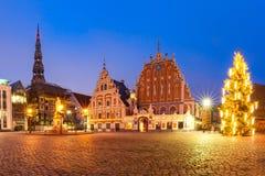 Urzędu Miasta kwadrat w Starym miasteczku Ryski, Latvia Zdjęcie Stock