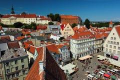 Urzędu Miasta kwadrat w Starym miasteczku Tallinn, Estonia Obraz Stock