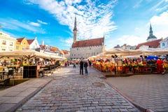 Urzędu Miasta kwadrat w Tallinn Zdjęcie Stock