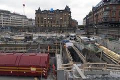 Urzędu Miasta Kwadratowy plac budowy Zdjęcie Royalty Free