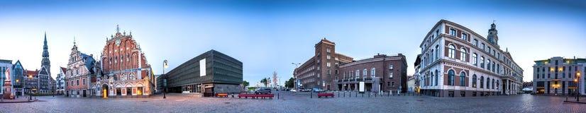 Urzędu Miasta Kwadratowy Ryski stary miasteczko, Latvia Zdjęcia Stock