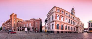 Urzędu Miasta Kwadratowy Ryski stary miasteczko, Latvia Zdjęcie Stock