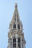 Urzędu miasta wierza na Uroczystym miejscu w Bruksela Zdjęcia Royalty Free