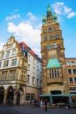 Urzędu Miasta wierza w Muenster, Niemcy Obrazy Stock