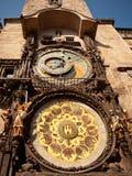 Urzędu miasta zegar, Praga, republika czech Fotografia Royalty Free