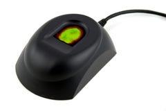 urządzenia biometryczna odcisków palców na czerwono zielonym Fotografia Royalty Free