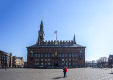 Urząd miasta kwadratowy Dani Kopenhaga Obraz Stock