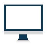 Urządzenie elektroniczne ekran, wektorowa grafika Zdjęcia Stock