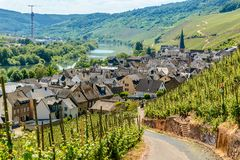 Urzig, wine village in the Moselle valley Germany royalty free stock image