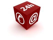 24 usługa - czerwień Zdjęcia Royalty Free