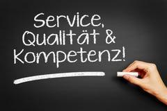 Usługa, Qualität & Kompetenz! (usługa, ilość & kompetencja!) obraz stock