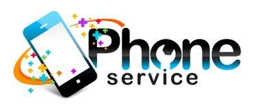 Usługa Telefoniczna logo ilustracji