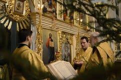 Usługa w Ortodoksalnym kościół Obraz Royalty Free