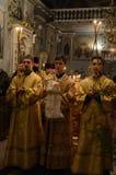 Usługa w Ortodoksalnym kościół Fotografia Royalty Free