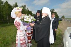Usługa w Ortodoksalnym kościół Zdjęcie Royalty Free