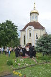 Usługa w Ortodoksalnym kościół Zdjęcie Stock