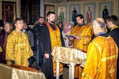 Usługa w Ortodoksalnym kościół Obraz Stock