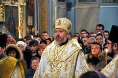 Usługa w Ortodoksalnym kościół Obrazy Royalty Free