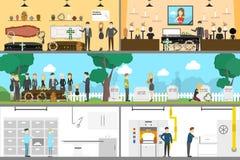 Usługi pogrzebowe wnętrze ilustracja wektor