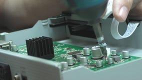 Usługowy remontowy odbiorca, instalacyjne śruby, śrubokręt zbiory wideo