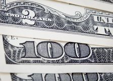 US $100 paper dollar banknotes Stock Photography