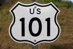 US 101 Sign. Hollywood and Ventura 101 freeway sign in Los Angeles, California Stock Image