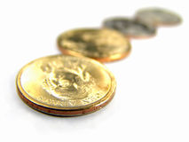 US 2007 One Dollar Coins Pattern Royalty Free Stock Photography