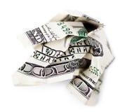 起皱的现金 免版税图库摄影