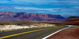 US 89A Northern Arizona. Roadway shot of scenic US89A in Northern Arizona Stock Images