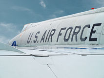 US air force. An old US Air force fighter plane Stock Photo