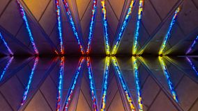 US Air Force Academy Chapel stained glass. COLORADO SPRINGS, CO - DECEMBER 13, 2015: United States Air Force Academy Cadet Chapel, stained glass Royalty Free Stock Images
