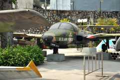 US Air Force airplane in the War Remnants Museum. Saigon, Vietna Royalty Free Stock Photography