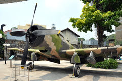 US Air Force airplane in the War Remnants Museum. Saigon, Vietna Royalty Free Stock Photos