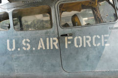 US Air Force airplane in the War Remnants Museum. Saigon, Vietna Stock Image