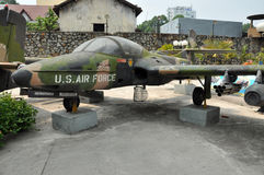US Air Force airplane in the War Remnants Museum. Saigon, Vietna Stock Photography