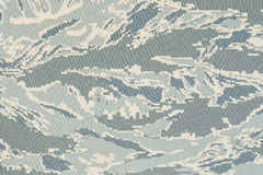 US air force digital tigerstripe abu camouflage fabric Stock Photo