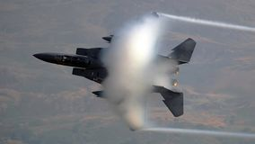 US Air Force F-15 Eagle fighter jet aircraft stock photography