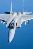 US Air Force F-15 Eagles fly over the Gulf Coast of Florida, USA. The Eagles are the Air Force`s main air superiority Stock Photography