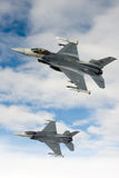 US Air Force F-16 Vipers fly over Italy. Stock Image
