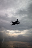 US Air Force F-16 Vipers fly over Italy. Stock Photo
