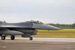 US military fighter plane at Florida Air Force base royalty free stock image