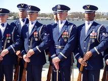 US Air Force Honor Guard Drill Team Men Royalty Free Stock Photo