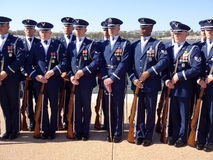US Air Force Honor Guard Drill Team Royalty Free Stock Image