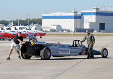 US Air Force jet car Stock Photo