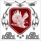 US Air Force - Military Design. vector. Set Stock Photography