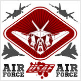 US Air Force - Military Design. vector. Set Stock Photo