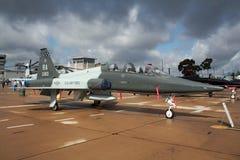US Air Force Northrop T-38A Talon trainer jet plane. MIRAMAR, CALIFORNIA, USA - OCT 15, 2016: US Air Force Northrop T-38A Talon trainer jet from Randolph AFB on Royalty Free Stock Photos