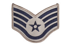 Us air force sergeant rank patch Royalty Free Stock Photos