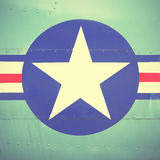 US Air Force sign. Retro style filtred image Stock Photos